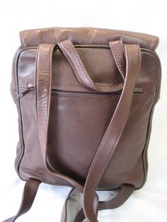 Vintage Tignanello Brown Pebble Leather Backpack by CLASSYBAG