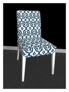 IKEA HENRIKSDAL Dining Chair Cover, Chevelle Navy Blue by RockinCushions