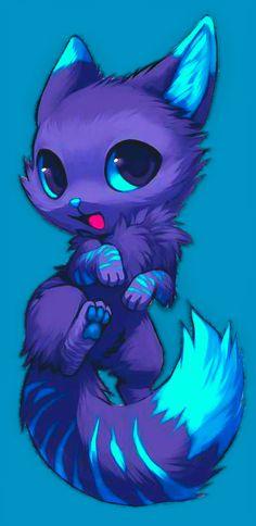 Pet d-fox wind cute animal drawings, kawaii drawings, cute animal pictures, Cute Animal Drawings, Kawaii Drawings, Cute Animal Pictures, Disney Drawings, Cute Fantasy Creatures, Mythical Creatures Art, Anime Cat, Anime Wolf, Wolf Spirit Animal