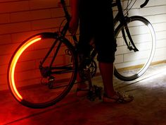 Revolights bike lights are high quality wheel mounted LED bicycle lights that take cycling safety to the next level. Pimp Your Bike, Velo Design, Bicycle Wheel, Bicycle Safety, Bicycle Lights, Bike Light, Bike Accessories, Lighting System, Cool Bikes