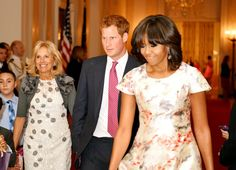 Pin for Later: The Royal Family's Travel Album United States Prince Harry linked up with First Lady Michelle Obama and Dr. Jill Biden at the White House while visiting America in May 2013.