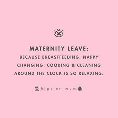 WEBSTA @ hipster_mum - {thought} what was your maternity leave like?  if it was anything like mine, it was super stressful  i was a contractor