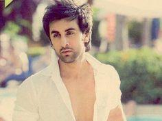 Ranbir Kapoor Hot Images In white Shirt