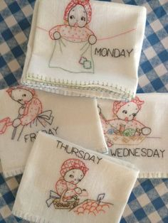 Hand stitched kitchen towels :). SOLD