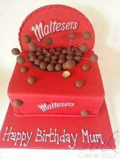 A malteser box cake! I wonder if it's malteser flavoured