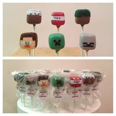 Minecraft Party Food - Minecraft Cake Pops vypassetti