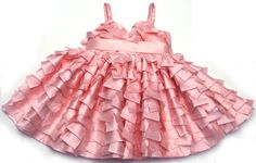 Dolls and Divas Stunning Girls and Toddlers Soft Peach Petal Empire Una Dress
