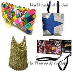 bolsas Handbags, Crafts, Recycled Materials, Recycling, Purses, Creativity, Manualidades, Backpacks, Hand Bags