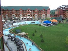 Relax with a ride down the lazy river at the Wilderness of the Smokies!