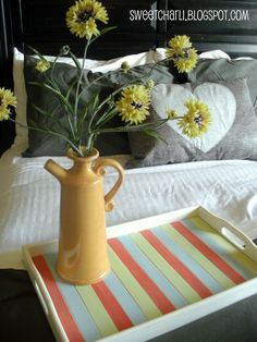 Breakfast Tray Idea: Made with Paint Stirrers