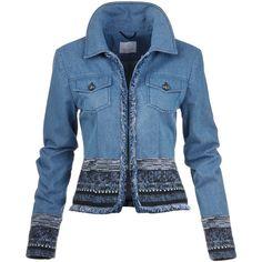 Designer Clothes, Shoes & Bags for Women Diy Jeans, Jeans Denim, Denim Jacket Men, Tweed Jacket, Tailored Jacket, Denim Jackets, Jean Jackets, Denim And Lace, Fashion Mode