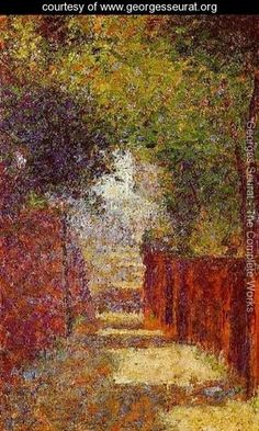 Rue Saint Vincent  Montmartre  In Spring - Georges Seurat - www.georgesseurat.org
