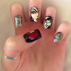 Disney Snow White Nail Art 🍎