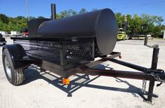 """Smoker Trailer Wood 59"""" x 29"""" Charcoal Pit Wood Cage BBQ Cooker - SLE Equipment Bbq Smoker Trailer, Custom Bbq Pits, Keep Food Warm, Smokehouse, Cage, Catering, Cooker, Grilling, Charcoal"""