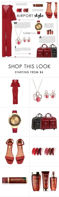 """Jet Set: Airport Style"" by shambala-379 ❤ liked on Polyvore featuring McKleinUSA"