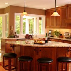 kitchen triangle shaped island ideas | Triangle Island Design Ideas ...