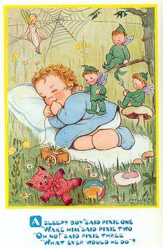 Phyllis Purser - vintage postcard,