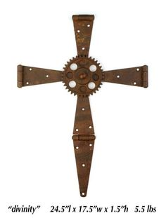 I'm not religious (sorry usa), but I have a thing with crosses. So there, a rusty metal cross. Metal Projects, Metal Crafts, Art Projects, Auction Projects, Metal Welding, Welding Art, Welding Tools, Woodworking Projects, Metal Yard Art