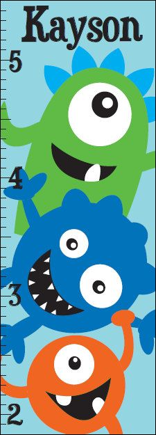 Monster Growth Chart Wall Decal by MeYDecals on Etsy, $25.00