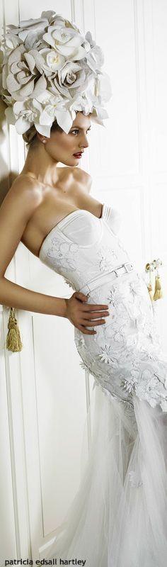 White Chic, White Gowns, Shades Of White, White Fashion, Floral Fashion, Bridal Boutique, Editorial Fashion, Wedding Gowns, Glamour