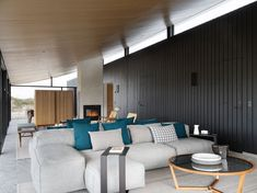 knud holscher builds residence in the danish island of fanø with interiors by staffan tollgard Classic Living Room, Living Room Modern, Home Interior Design, Interior Architecture, Danish House, Black House Exterior, Living Etc, Loft, Nordic Design