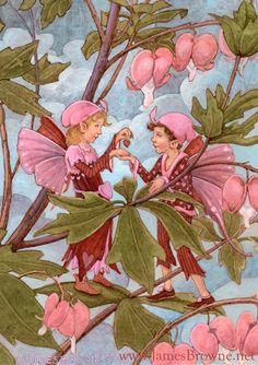Sweetheart Fairies Greeting Card by brownieman on Etsy, $2.75