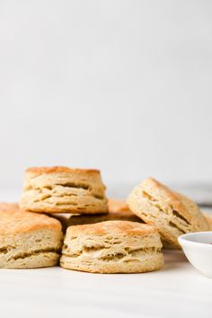 Buttery, soft, and made completely from scratch, this basic homemade biscuit recipe can be ready in about 20 minutes. You only 6 ingredients the make the best biscuits for dinner!! Homemade Biscuits Recipe, Biscuit Recipe, Pastry Recipes, Baking Recipes, My Favorite Food, Favorite Recipes, Buttery Biscuits, Pastry Blender, Recipe Boards