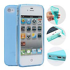 TPU Candy Color Protective Case for iPhone 44S(Assorted Colors)