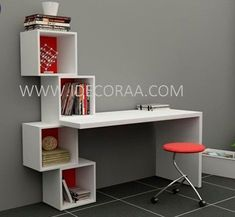 19 Ideas for bedroom desk study Home Office Design, Home Office Decor, Study Table Designs, Diy Study Table, Study Tables, Home Furniture, Furniture Design, Furniture Plans, Bedroom Desk