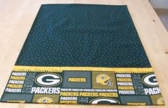 Green Bay Packers pillowcase with French seams by JamesRiverCrafts on Etsy