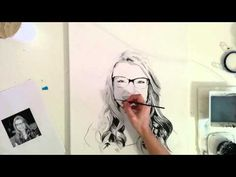 "Speed Painting Portrait ""Megan"" by Angela Simone - YouTube"