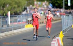 Alistair and Jonny Brownlee racing at Glasgow 2014