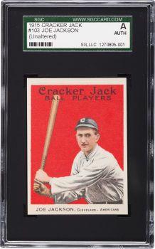 1915 Cracker Jack Joe Jackson #103 SGC Authentic