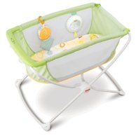 Check out the Rock 'n Play Portable Bassinet - Green at the Fisher-Price website. Explore all our baby and toddler gear, toys and accessories today! Fisher Price, Co Sleeper, Toddler Furniture, Nursery Furniture, Delta Children, Storage Mirror, Swing Seat, Baby Bassinet, Baby Cribs