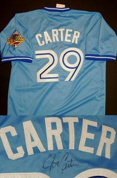 a4b1202e AAA Sports Memorabilia LLC - Joe Carter Autographed Toronto Blue Jays  Authentic Blue Throwback Jersey with