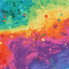 Night Sky Photos, Orange And Purple, Pink, Rainbow Painting, Modes4u, Fabric Painting, Cotton Fabric, Dots