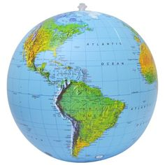 """Amazon.com: Jet Creations Inflatable Topographical 16"""" Globe Waypoint Geographic: Toys & Games"""