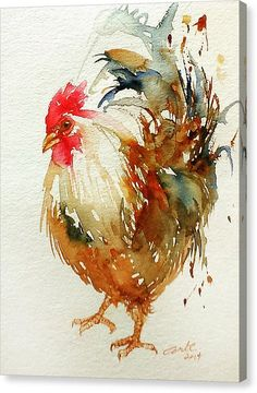 Rooster Art Print featuring the painting White Knight Rooster by Arti Chauhan Watercolor Bird, Watercolor Paintings, Surreal Artwork, Rooster Art, Rooster Painting, Sunflower Art, Chicken Art, Chicken Painting, Bird Art