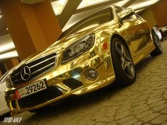 LG EXOTIC AUTO TRANSPORT Got one?  Ship it with http://LGMSports.com Gold Mercedes...