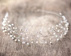 Wedding+headpiece+Silver+tiara+Crystals+tiara+Bridal+by+ArsiArt,+$43.00