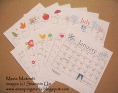 2012 Calendar MDS by stampingmaria - Cards and Paper Crafts at Splitcoaststampers 2012 Calendar, Calendar Printable, Calendar Ideas, Scrapbook Supplies, Scrapbooking, Diy And Crafts, Paper Crafts, Pocket Calendar, Pen And Paper