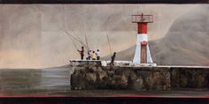 Slide Background, Background Images, South African Artists, Lighthouse, Passion, Paintings, Blue, Bell Rock Lighthouse, Picture Backdrops