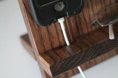 Apple Watch Charger Valet Night Stand Oak Wood Valet iPhone