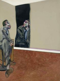 Francis Bacon (British, 1909-1992), Portrait of George Dyer Staring into a Mirror, 1967. Oil on canvas, 78 x 58 in. via dappledwithshadow