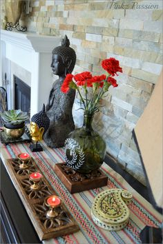 1000 ideas about indian living rooms on pinterest for Buddha decorations for the home