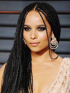 11 So-Pretty Braids to Up Your Hair Game.  Zoe Kravitz