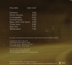 Polaris (12) - Way Out (CD, Album) at Discogs Cd Album, Cover Photos, Booklet