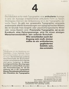 Cover from 1973 issue 4  Typographische Monatsblätter  Wolfgang Weingart