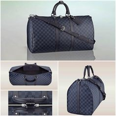 Louis Vuitton Keepall Bandouliére 55 in Damier Cobalt travelbag is timeless