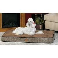 K&H Manufacturing K&H Orthopedic Superior Pet Bed, Large 40-Inch by 50-Inch, Mocha Paw Bone Print (KandH)